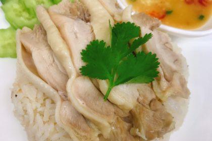 ข้าวมันไก่|カオマンガイ|タイ式チキンライス|Chicken With Sauce over rice