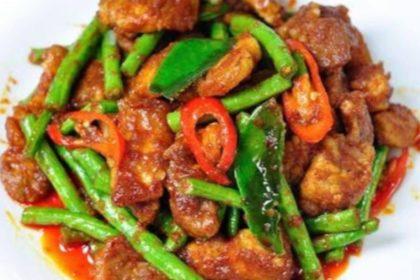 ผัดพริกแกง|パップリックゲーン|肉とインゲンのレッドカレー妙め|Stir fried and Green beans with Red curry paste