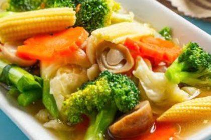 ผัดผักรวมมิตร|パットパック|タイ風野菜妙め|Thai stir fried mixed vegetable