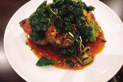 ผัดเผ็ดปลาดุกกรอบ|パットペットプラードゥック|ナマズのレッドカレー妙め|Stir fried Deep fried Catfish with Curry Paste
