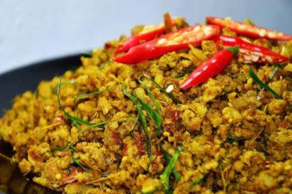 คั่วกลิ้ง|クアクリン|(鶏肉/豚肉)の激教辛ドライカレー|Stir-Fried Spicy(Pork or Chicken)with Yellow Chili Paste(Southern Stye)