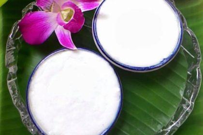 ขนมถ้วย|カノムトゥアイ(2pcs)|ココナッツプディング|Thai steamed coconut pudding