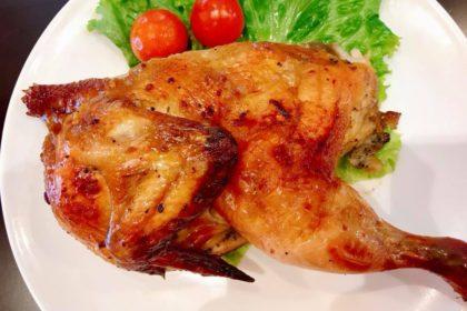 ไก่อบวันดีครึ่งตัว|ガイオップ・クルントア|半分ローストチキン|Roast Chicken(half)