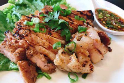 คอหมูย่าง|コームーヤーン|豚肉のピートロ焼き|Thai grilled pork neck