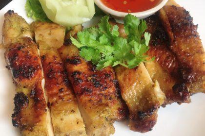 ไก่ย่างขมิ้น|ガイヤーンカミン|南部風焼き鳥ターマリック入り|Southern Thai Style grilled chicken(with Turmeric)