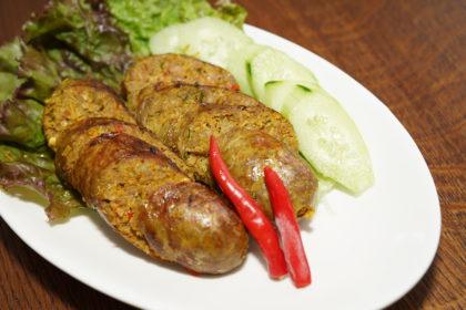 ไส้อั่ว|サイオウア|タイ北スタインのソーセージ|Thal Nartherm splcy sausage
