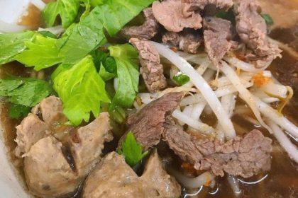 ก๋วยเตี๋ยวเนื้อสด|クィッティアオヌア|牛肉入り汁ビーフン|Thai Noodle Clear soup with Beef
