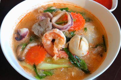 สุกี้น้ำ スッキーナーム 春雨のタイスキ汁あり Vermicelli in Thai Suki soup