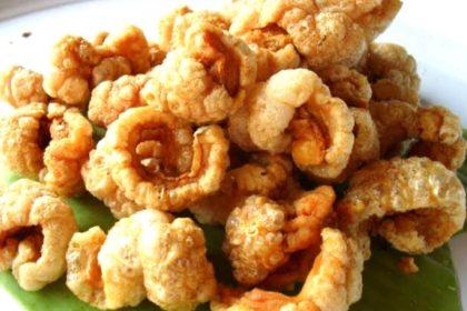 แคปหมู|ケップムー|豚皮揚げ|Deep Fried Pork skin cracker