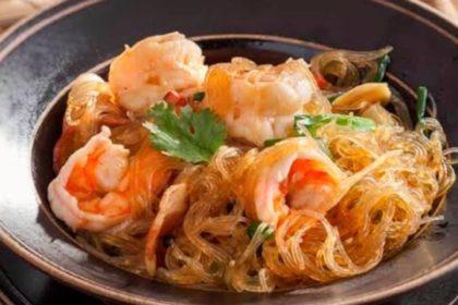 กุ้งอบวุ้นเส้น クンオップウンセン 海老と春雨の蒸し物 shrimps steamed with vermicelli