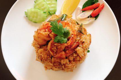 ข้าวผัดต้มยำกุ้ง|カオパットトムヤム|トムヤムシーフードチャーハン|Tom yam fried rice